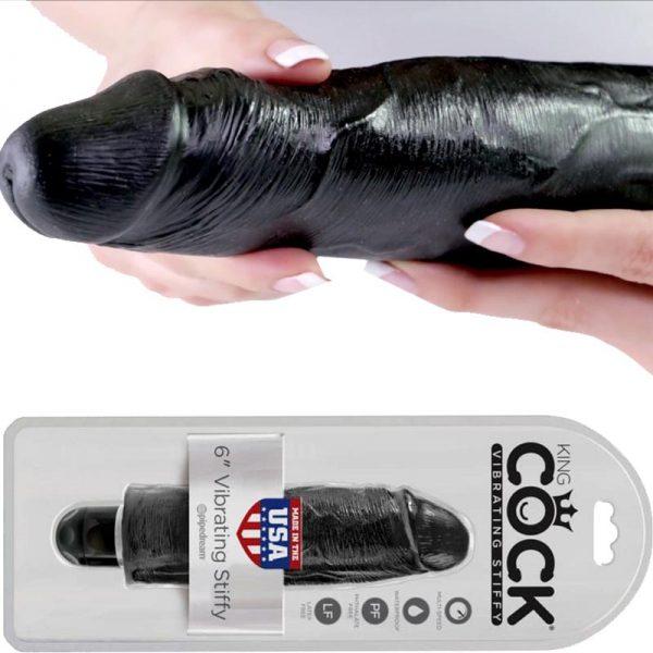 vibrator-negru-king-cock-6-vibrating-stiffy-negru
