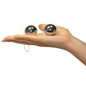 Loveballs-bile-kegel-argintii
