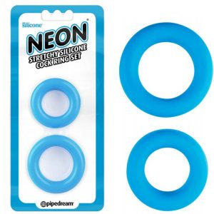 inele-penis-Neon-Stretchy-Silicone-Cock-Ring-Set---2