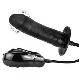 vibrator negru gonflabil Bigger Joy