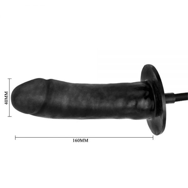 vibrator negru gonflabil Bigger Joy dimensiuni