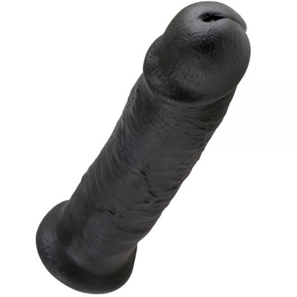 King Cock 10 INCH Negru cu gland vene si ventuza