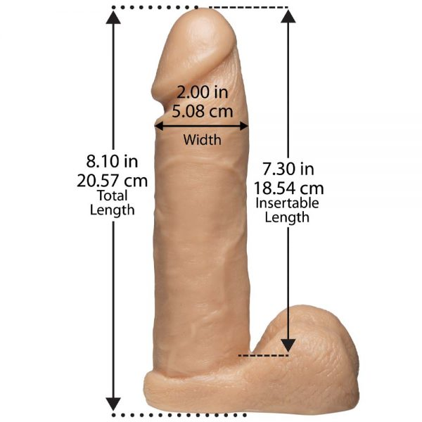 Realistic Cock Ultra Harness dimensiuni