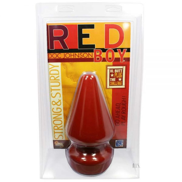 Red Boy Doc Johnson butt plug rosu cu forma conica
