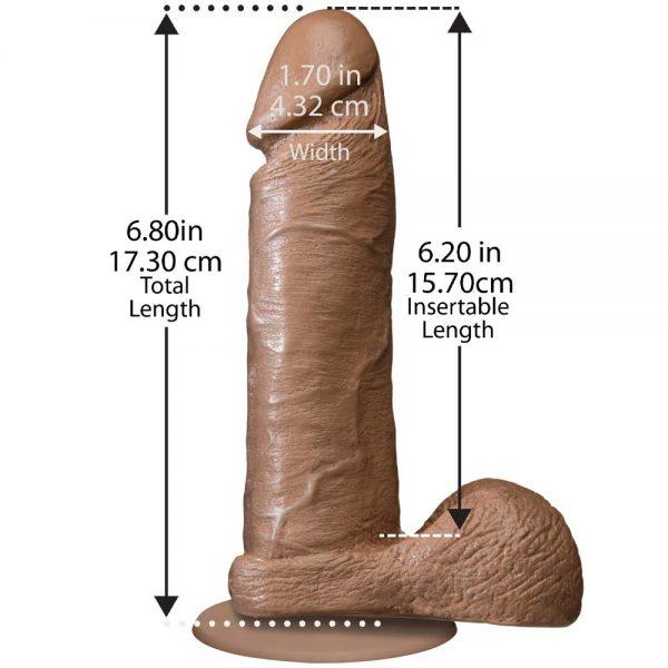 The Realistic Cock 15 cm Mulatru dimensiuni