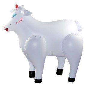 loving lamb papusa gonflabila in forma de capra