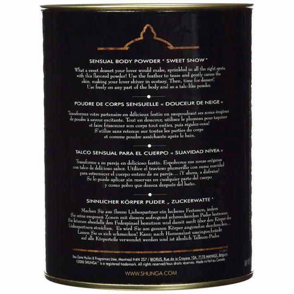 Shunga Sensual Body Powder ambalaj spate