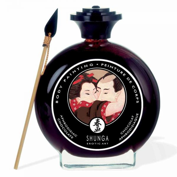 shunga body painting ciocolata neagra
