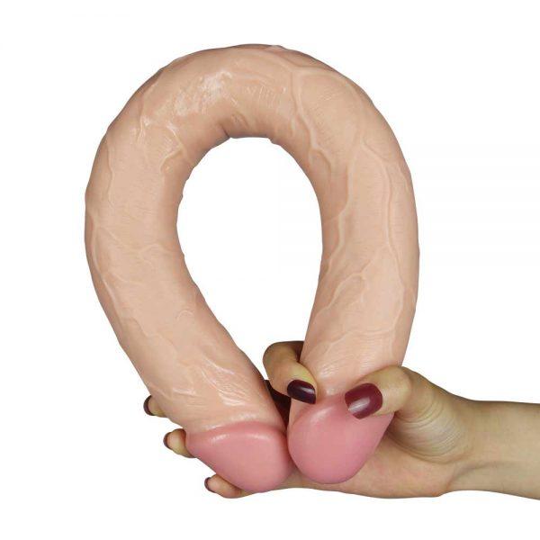 Realistic Slim Ultra Double dildo flesh