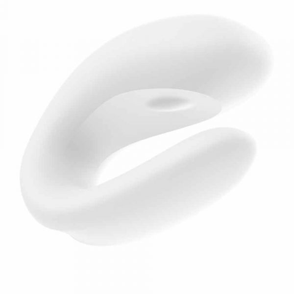 Satisfyer Double Joy vibrator cuplu alb